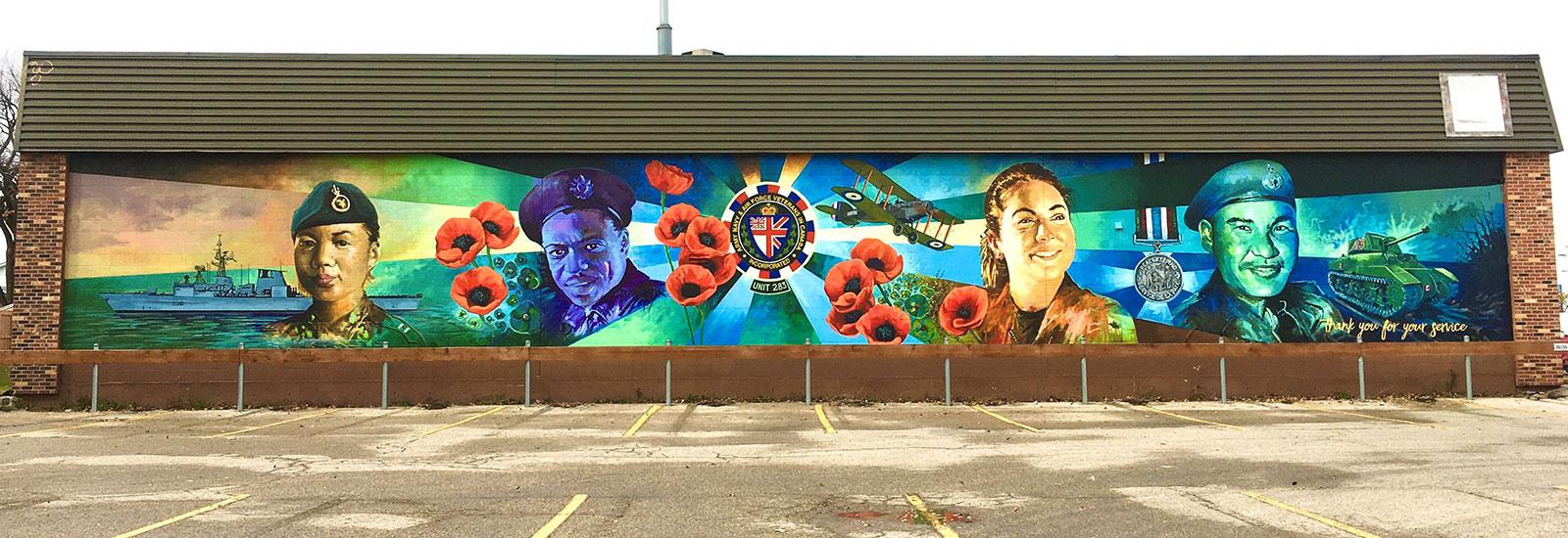 Canadian Heroes Mural